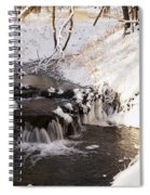 Winter Falls On Big Stone Lake  Spiral Notebook
