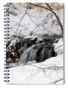 Winter Falls On Big Stone Lake Mn Spiral Notebook