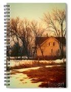 Winter Farhouse Spiral Notebook