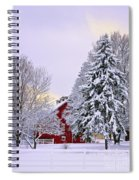 Winter Farm Scene Spiral Notebook