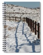 Winter Fence Spiral Notebook