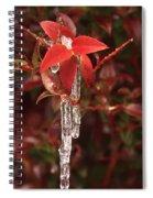 Winter Flower Spiral Notebook