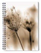 Winter Flowers II Spiral Notebook