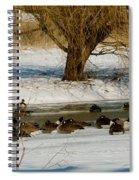 Winter Geese - 01 Spiral Notebook