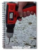 Winter Golf Spiral Notebook