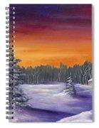 Winter Hare Visit Spiral Notebook