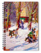Winter High Bridge Park Spiral Notebook