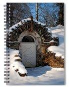 Winter Hobbit Hole Spiral Notebook