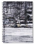 Winter Ice Lake Scene Hopatcong Covered Port Spiral Notebook