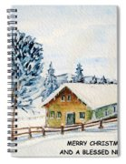 Winter Idyll With Text Spiral Notebook