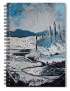 Winter In Ancient Ruins Spiral Notebook