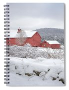 Winter In Connecticut Square Spiral Notebook