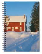 Winter In New England, Mountain View Spiral Notebook