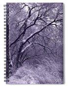 Winter In Purple Spiral Notebook