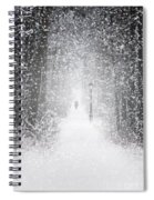 Snowing In The Forrest Spiral Notebook