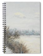 Winter In The Ouse Valley Spiral Notebook