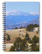 Winter In The Pike National Forest Spiral Notebook