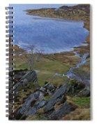 Winter Landscape Detail North Wales Spiral Notebook