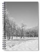 Winter Landscape In Bw Spiral Notebook