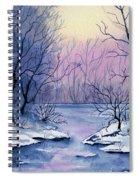 Winter Light Spiral Notebook