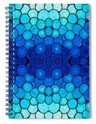 Winter Lights - Blue Mosaic Art By Sharon Cummings Spiral Notebook