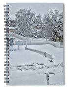 Winter Lines Spiral Notebook
