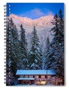 Winter Lodging Spiral Notebook