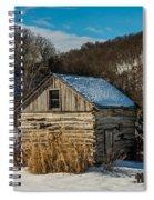 Winter Logcabin Spiral Notebook