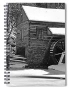 Winter Mill In Black And White Spiral Notebook
