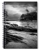 Winter Moonlight Wolfes Neck Woods Maine Spiral Notebook
