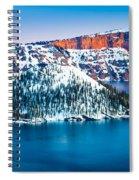 Winter Morning At Crater Lake Spiral Notebook