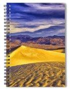 Winter Morning At Death Valley Spiral Notebook