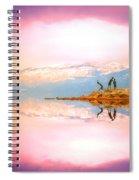 Winter Morning At Okanagan Lake Spiral Notebook