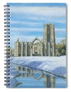 Winter Morning Fountains Abbey Yorkshire Spiral Notebook