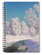 Winter Morning In Engadine Spiral Notebook