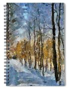 Winter Morning In The Forest Spiral Notebook