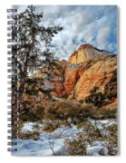 Winter Morning In Zion Spiral Notebook