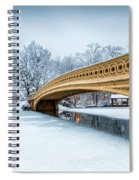 Winter Morning With Bow Bridge Spiral Notebook