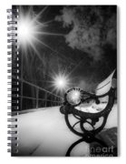 Winter Night Along The River Spiral Notebook