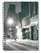 Winter Night - New York City - Lower East Side Spiral Notebook