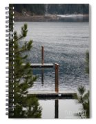 Winter On Lake Coeur D' Alene Spiral Notebook