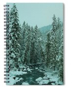 Winter On The American River Spiral Notebook