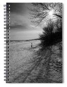 Winter On The Beach  Spiral Notebook