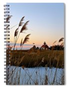 Winter On The Delaware  Spiral Notebook
