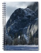 Winter On The Valley Floor Spiral Notebook