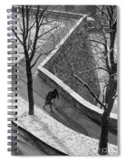 Winter On The Walls Of Bergamo Spiral Notebook