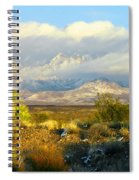 Winter In The Organ Mountains Spiral Notebook