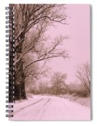 Winter Pink Spiral Notebook