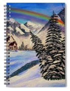 Winter Rainbow Spiral Notebook