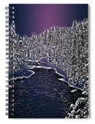 Winter River Oulanka National Park Lapland Finland  Spiral Notebook
